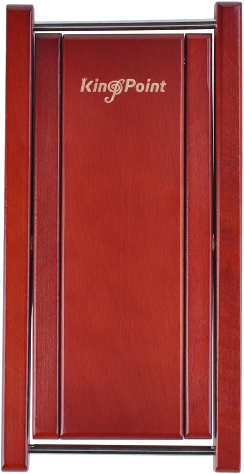 kingpoint Hartholz Gitarre Fußhocker 3 Adjusatble Stufen höhenverstellbar Red wood