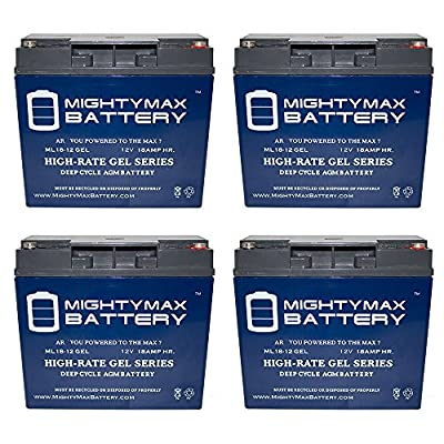 Mighty Max Battery 12V 18AH GEL Battery for Jump n Carry JNC660 JNCAIR JNC 660-4 Pack brand product