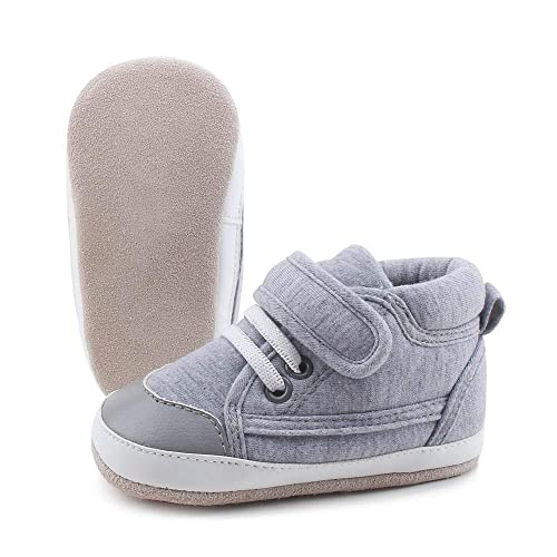 72489e5252716 OOSAKU Toddler Sneaker Baby Infant Shoes Boy Girl First Walking Leather  Sole Shoes
