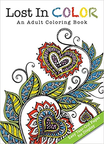 Lost In Color Red An Adult Coloring Book Flowerpot Press 9781486710140 Books