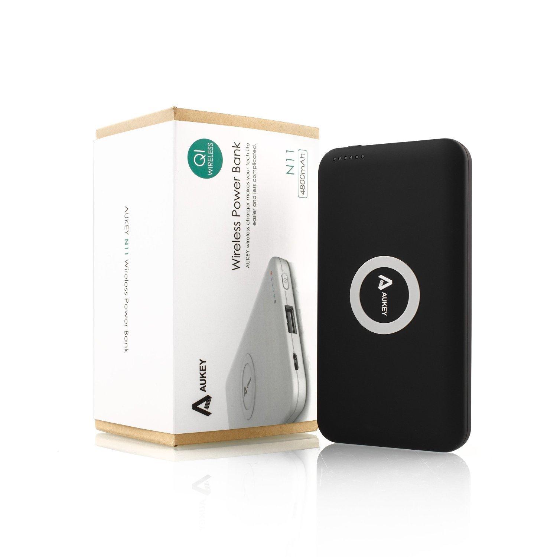 Aukey ® Qi Cargador Inalámbrico Tecnología Qi,Cargador Inalámbrico Con Tecnología Qi, Wireless Charging Diseñado Para Qi-Compatible Teléfonos ...