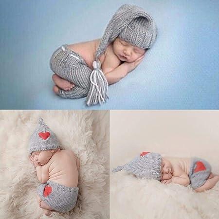 PZNSPY 0-6M Bebé recién nacido Traje de punto de ganchillo ...