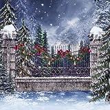 GladsBuy Christmas Bells 10' x 10' Digital Printed Photography Backdrop Christmas Theme Background YHA-074