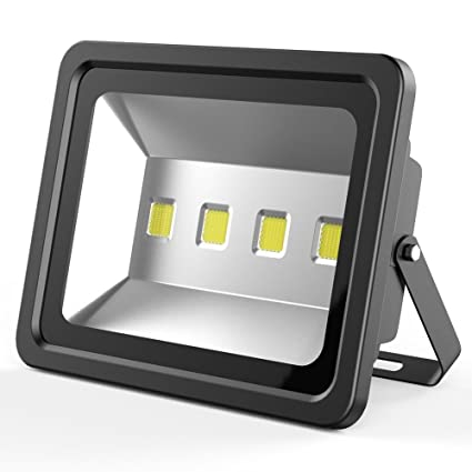 LED Flood Light, 200W Cool White LED Security Spotlights Outdoor Super  Bright 20000lm 4 LED