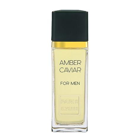 Paris Elysées Amber Caviar - Colonia para hombre, 100 ml
