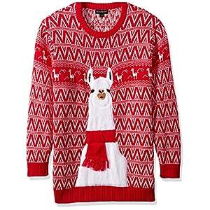 Blizzard Bay Men's Festive Llama Ugly Christmas Sweater