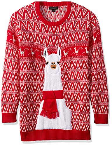 Blizzard Bay Men's Big and Tall Festive Llama Ugly Christmas Sweater, Red/White, (Big And Tall Christmas Sweaters)