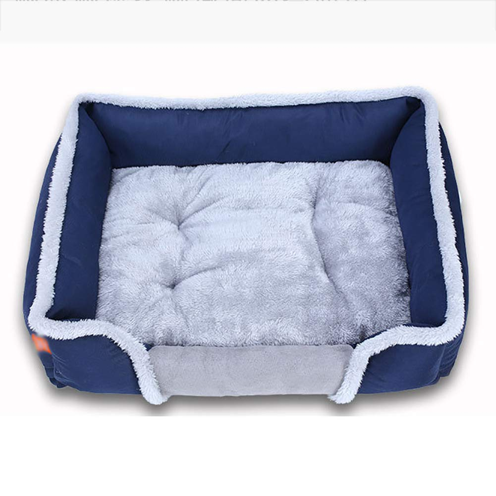 bluee SmallLYUH Super Plush Dog & Cat Beds,Soft Dog Bed Cat Bed Vintage Bed for Small Medium Dogs with Detachable Washable,Brown,XL