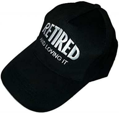 Mens Ladies  Retired And Loving It  Adjustable Baseball Cap Hat   Available  in Black d5dcc2a3fd9
