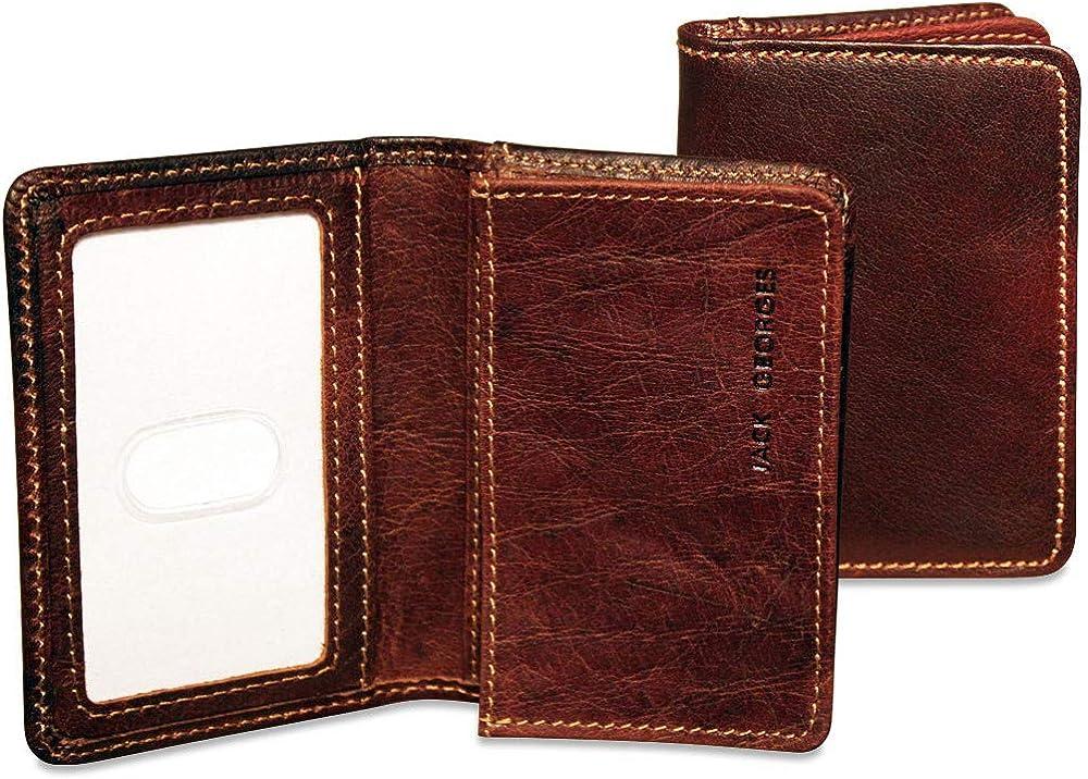 Jack Georges Voyager Business Card Holder Leather Card Case