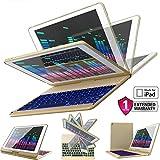 iPad Keyboard Case for iPad 2018 (6th Gen) - iPad 2017 (5th Gen) - iPad Pro 9.7 - iPad Air 2 & 1 - Thin & Light - 360 Rotatable - Wireless/BT - Backlit 7 Color - iPad Case with Keyboard (9.7, Gold)