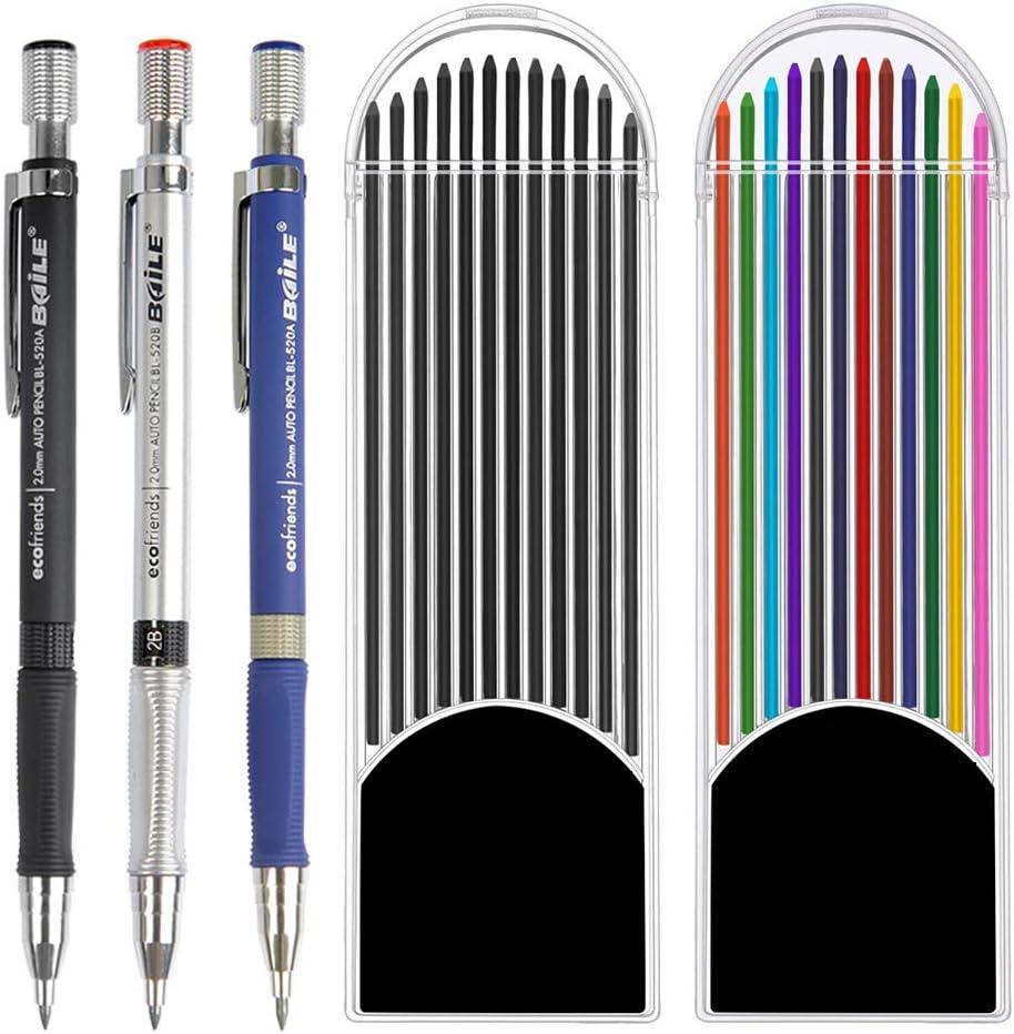 Fallminen 2 mm Bleistiftminen bunte Minen Farbminen für Fallbleistift Bleistift