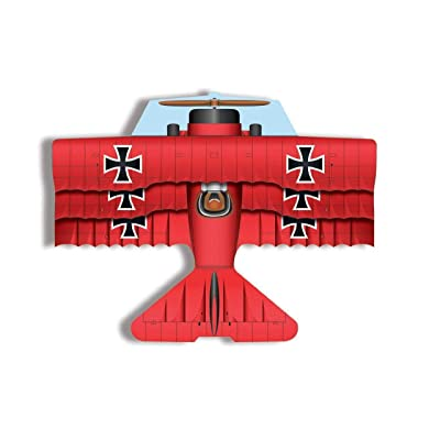XKites 37Inch Flying Aces Red Baron Poly Airplane Kite: Toys & Games