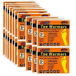 JobSite Comfort Toe Warmers - Quick Long-lasting Heat - Great for Sporting Events & Winter Activities - 10 Pairs