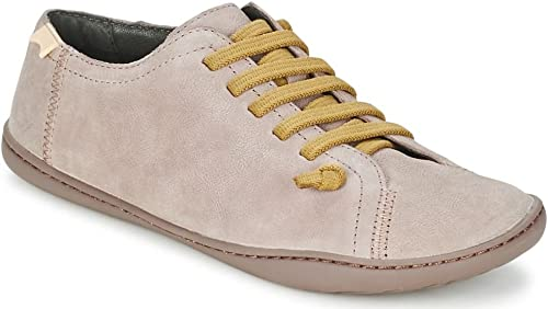 Camper Peu Cami Tan White Womens Leather Trainers Shoes
