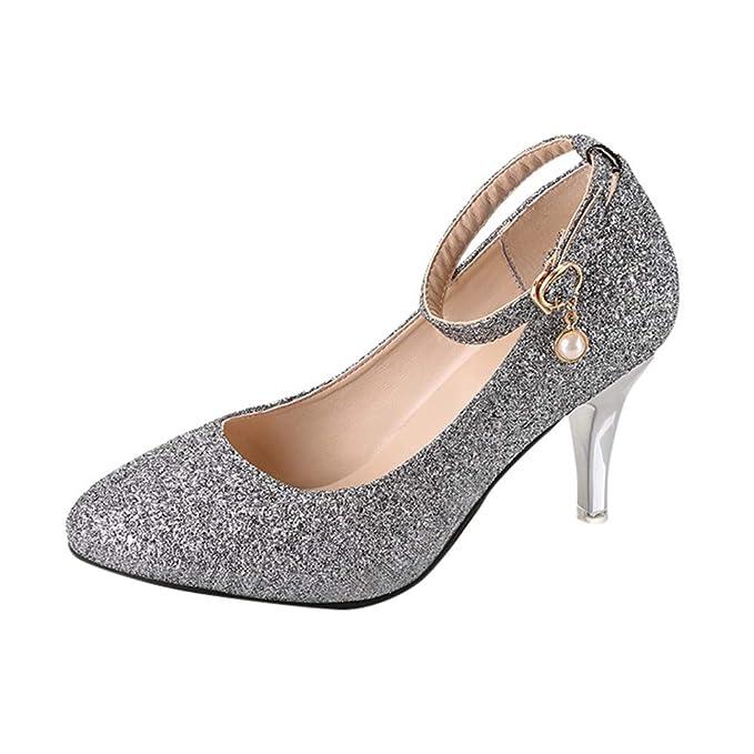 a3ea84894 Beikoard(Asia Size) Scarpa da Donna Estremamente Sexy Tacchi Alti Scarpe da  Donna Scarpe con Tacchi Sottili Scarpe da Donna: Amazon.it: Abbigliamento
