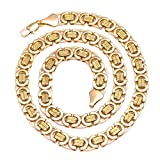 18k Gold Plated Byzantine Necklace uniquely manufactured to look & feel like pure gold