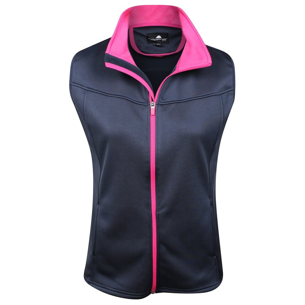 The Weather Apparel Co Poly Flex Golf Vest 2017 Womens Navy/Pink Large