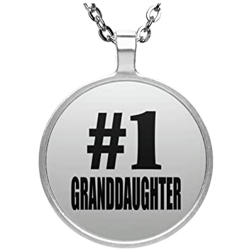 Amazon number one 1 granddaughter round necklace silver number one 1 granddaughter round necklace silver plated pendant best gift for negle Choice Image
