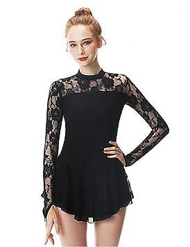 GW Chica Patinaje Sobre Hielo Vestidos Negro Cisne Licra ...