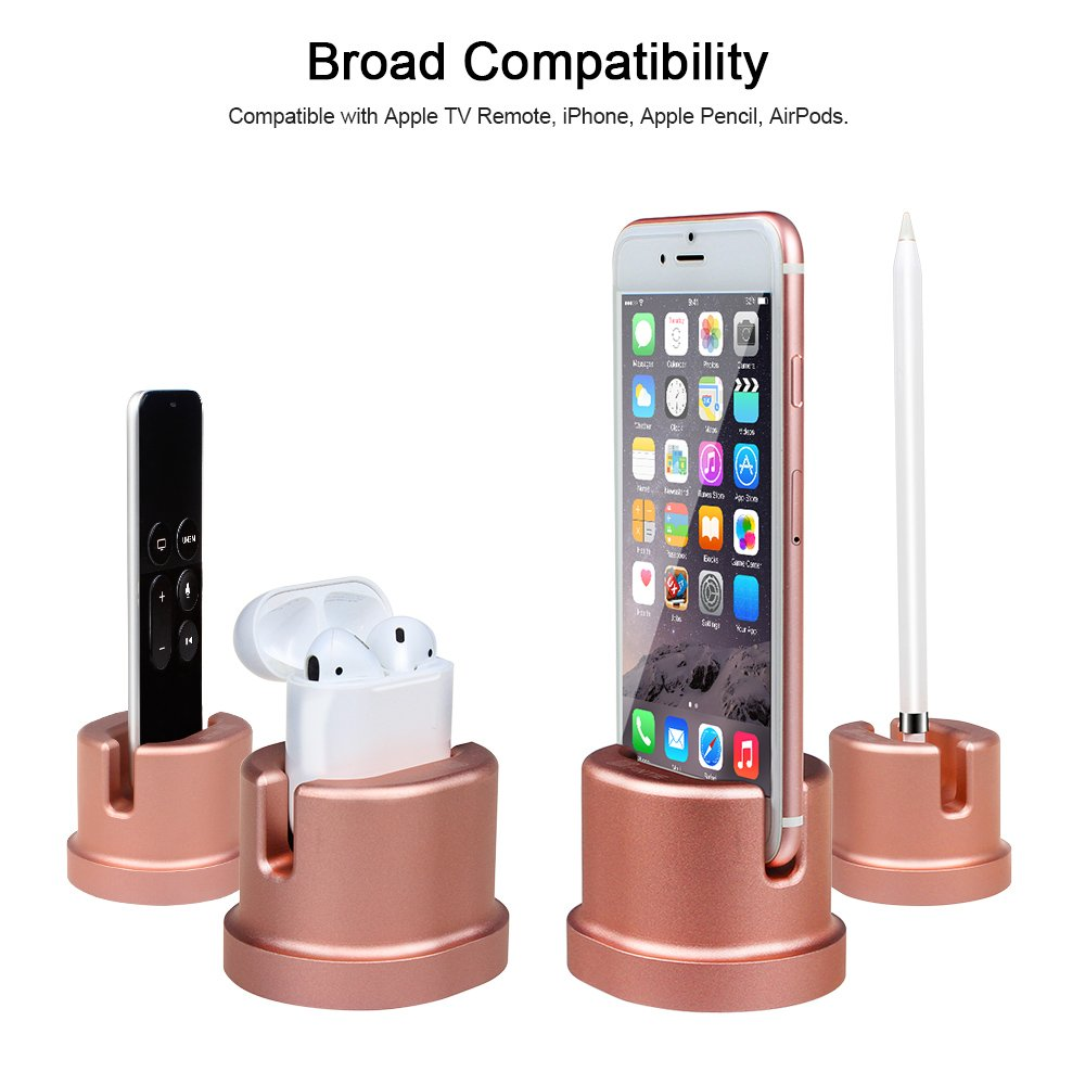 new product 4d5f2 b93f9 Details about Charging Dock Stand Holder For Apple iPhone 7 / 7 Plus / 6s /  6 / AirPods Case
