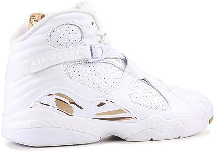 classic fit 27067 9f3b6 Amazon.com | NIKE Jordan Men's Air 8 Retro OVO, White/Blur ...