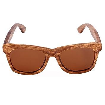Hombres De Madera Hecho A Mano Y Las Mujeres Polarizadas Gafas De Sol,B6Brown