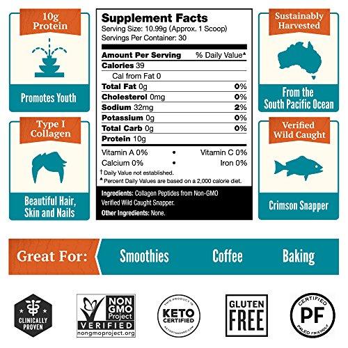 NEW! Natural Force® Wild Caught Tasteless Marine Collagen Powder *BEST MARINE COLLAGEN FOR SKIN* Anti Aging Collagen Peptides, Hydrolyzed Type 1 and 3 Fish, Non-GMO Paleo Protein, 11.63 oz.