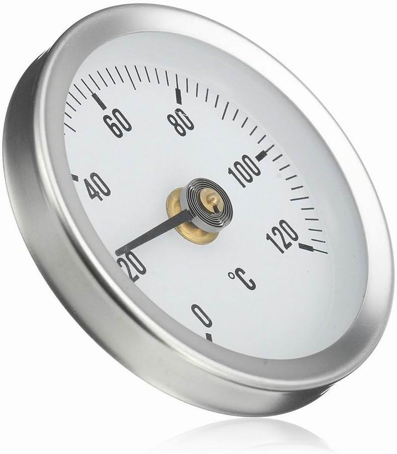 2 Stück Universal Clip On Rohrthermometer Für Heißes Wasser Heizung Öltanks Baumarkt