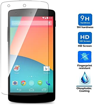 REY Protector de Pantalla para Google Nexus 5 D820 D821 Cristal ...