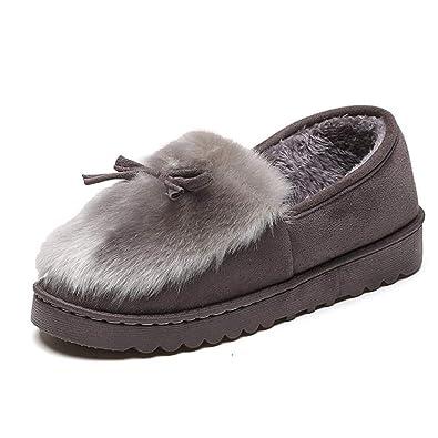 Mocasines De Mujer con Casa Piel Casual Al Aire Libre Caliente Zapatos De Invierno De AlgodóN De Moda Femenina Zapatos Planos: Amazon.es: Zapatos y ...