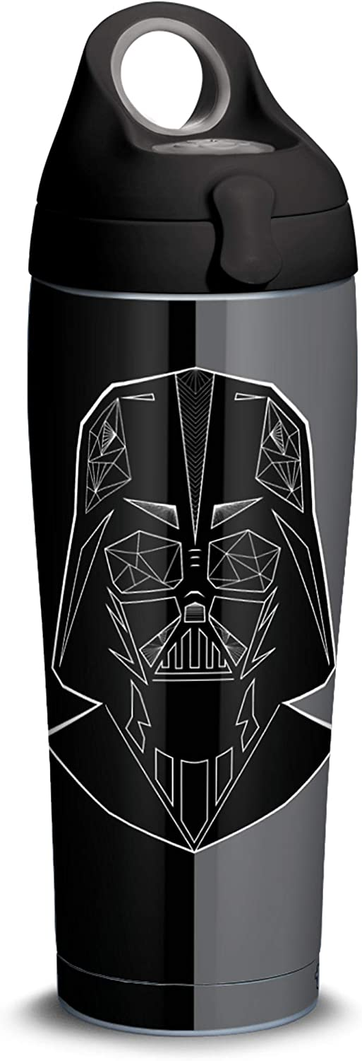 Tervis Star Wars Vader Trooper 18/8 Stainless Steel Insulated Water Bottle & Lid, 24oz Bottle, Silver
