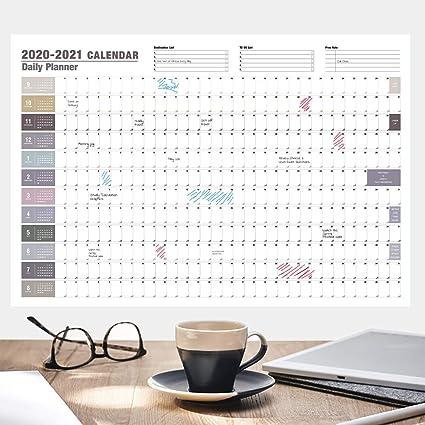 Calendario planner da parete. Planner mensile per la casa o l