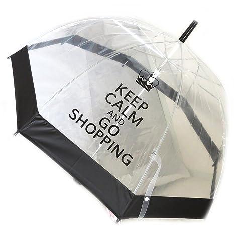 Campana paraguas So Britishnegro transparente.