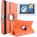 Flip Cover Case with 360Degree Rotating Stand PU Leather Case Cover for Samsung Galaxy Note 10.1N8000N8010N8020