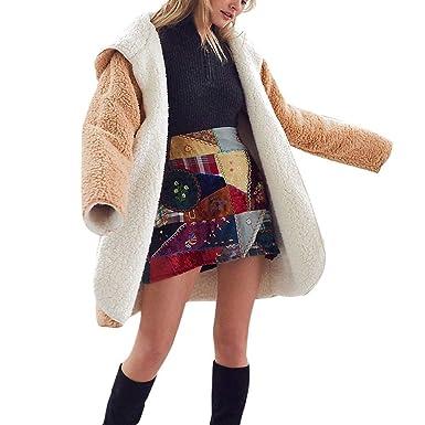 KOERIM Abrigo Casual de Invierno para Mujer con Capucha Abrigo Reversible para Mujer con Bolsillos: Amazon.es: Ropa y accesorios