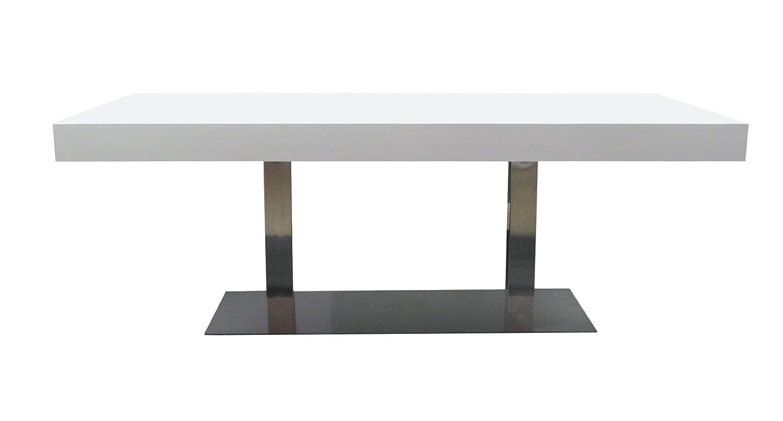Tischplatte weiß matt  Tenzo 4800-001 Bloc - Designer Esstisch, Tischplatte 12 cm Wabe mit ...