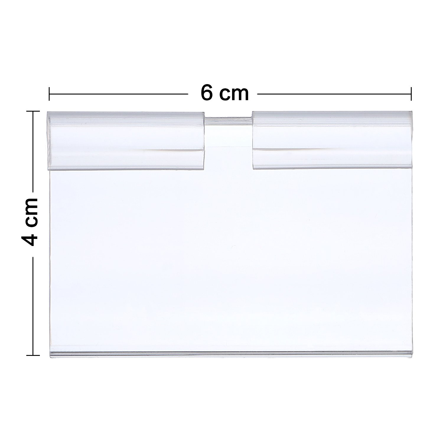 Hestya Price Label Holder Clear Plastic Wire Shelf Retail Label Holder Merchandise Sign Display Holder (100) by Hestya (Image #2)