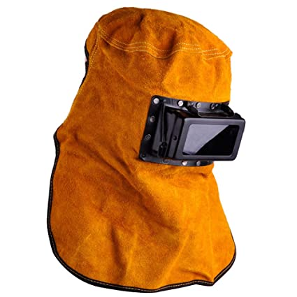 Amazon.com: Marketworldcup Leather Hood Welding Helmet Mask Solar Auto Darkening Filter Lens Welder: Home & Kitchen