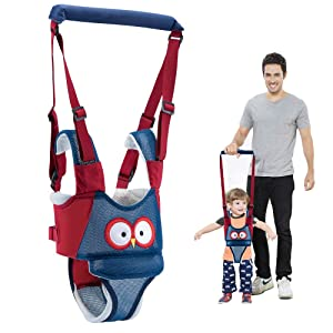Baby Walking Harness Adjustable Detachable Mesh Baby Walker Assistant Protective Belt for Kids Infant Toddlers (Blue)