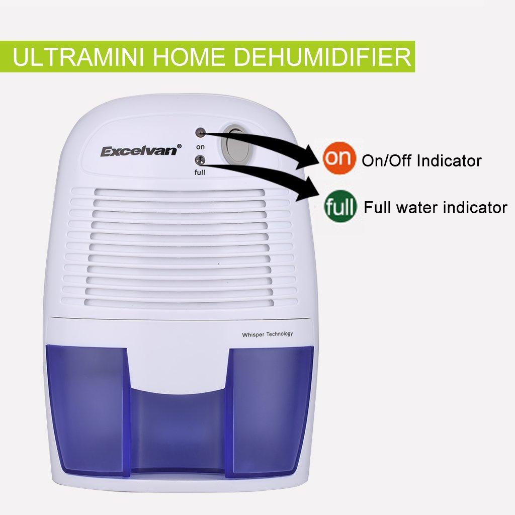 Bathroom dehumidifier uk - Excelvan 500ml Mini Compact Air Dehumidifier Portable Amazon Co Uk Electronics