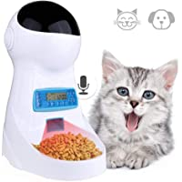 Currens Automatic Cat Feeder, Pet Food Dispenser Feeder with Timer Programmable Portion Control and Voice Recorder 4 Meals Medium Large Cat Auto Feeder