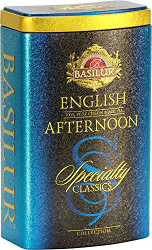 Basilur | Original English Afternoon | Ultra-Premium Loose Leaf Black Tea | Specialty Classics Collection | 100g / 3.52oz. Tin Caddy