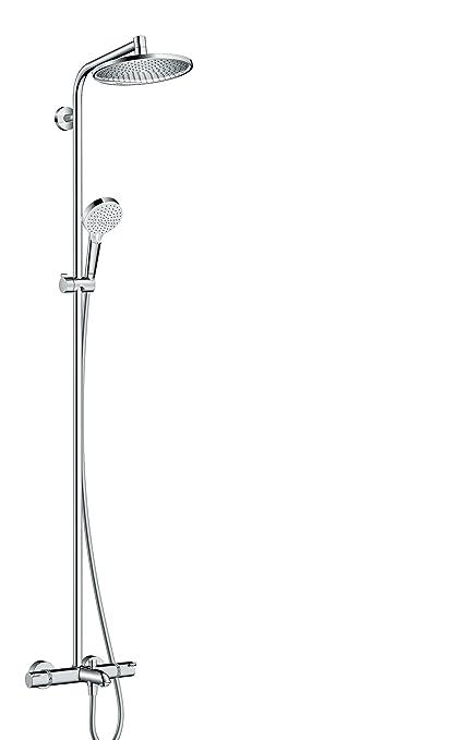 Hansgrohe Colonne De Douche Showerpipe Crometta S 240 Mitigeur Thermostatique Baignoire Chrome 27320000