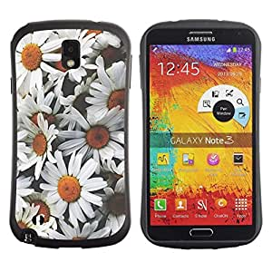 "Hypernova Slim Fit Dual Barniz Protector Caso Case Funda Para Samsung Note 3 [Margaritas Flores dom campo de época""]"