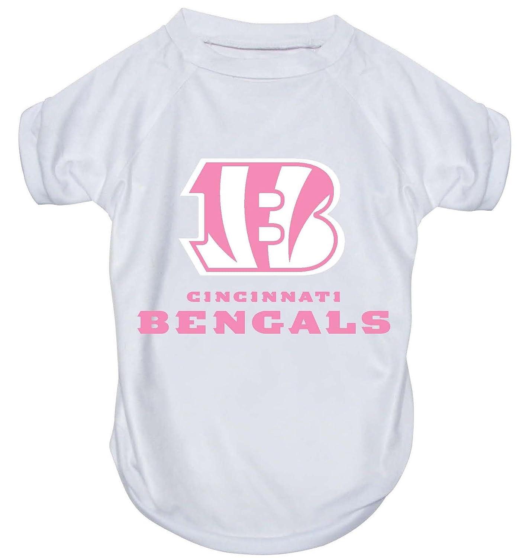 Cincinnati Bengals Pet Dog Pink Performance T-shirt Active Tee MEDIUM