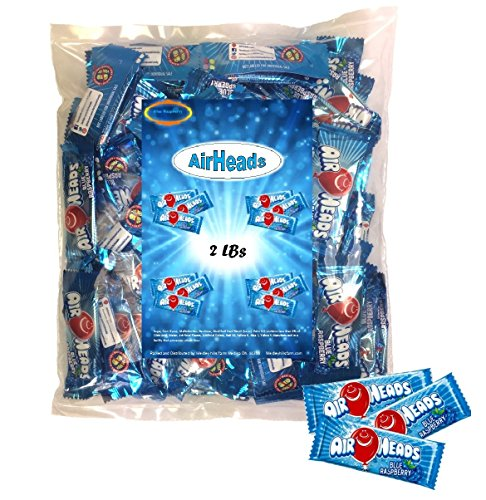 Airheads Melle Van (AirHeads Mini 2 Lbs Blue Raspberry Taffy Individually Wrapped)
