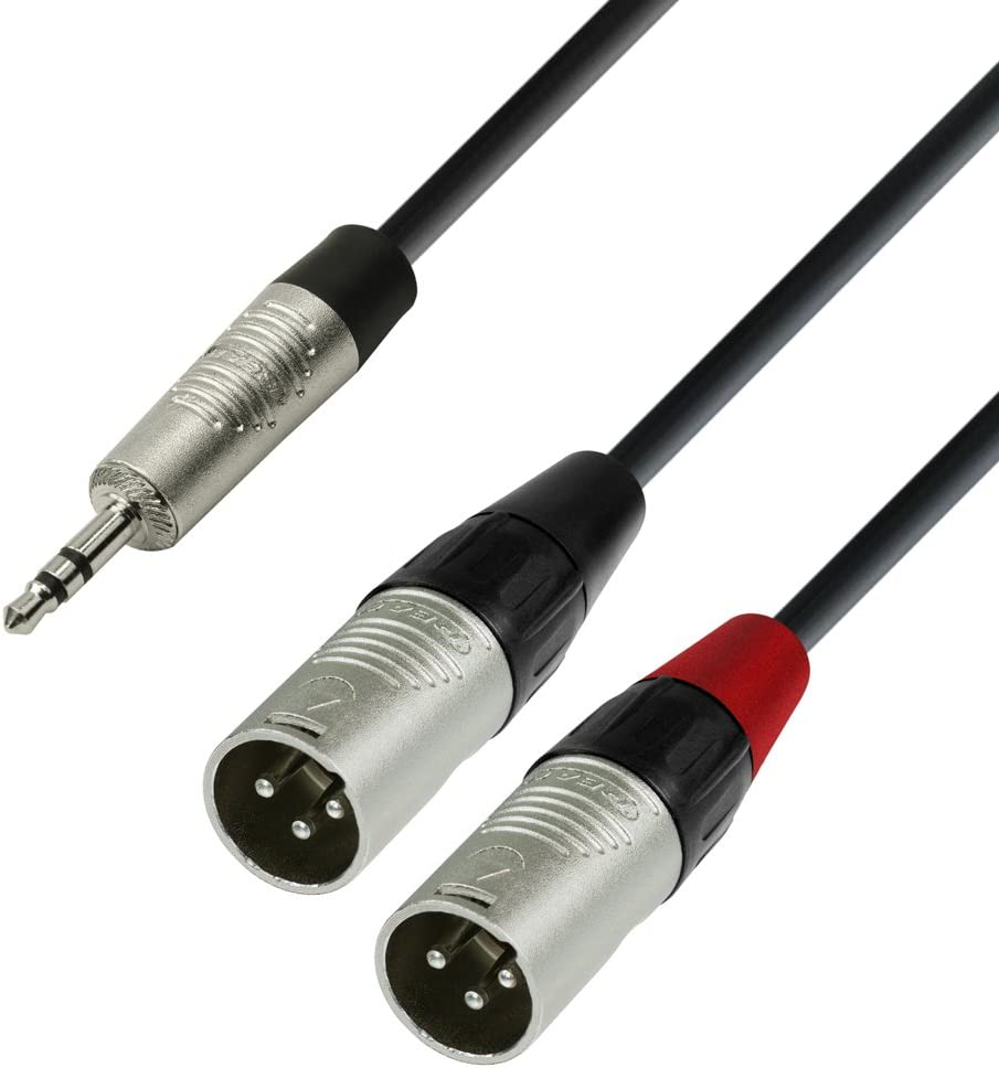 Handy 1//8 Zoll LinkinPerk 3,5 mm B/ühne 2M DJ Stereo-Stecker auf XLR-Stecker Kabel Interconnect 3,5-Audio mikrofon f/ür iPod