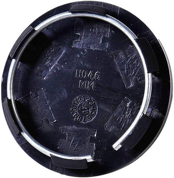 jpkoekw Paquet de 4 enjoliveurs de Roue de Voiture Couvre Centre de Roue de Voiture en Fibre de Carbone Argent 63mm
