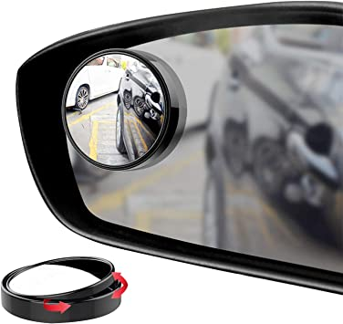 Color : Black Exterior Mirrors 360 Degree Universal Blind Spot Mirror for Car Rear View Mirror